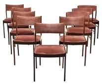 (9) DANISH MID-CENTURY MODERN ROSEWOOD SIDE CHAIRS