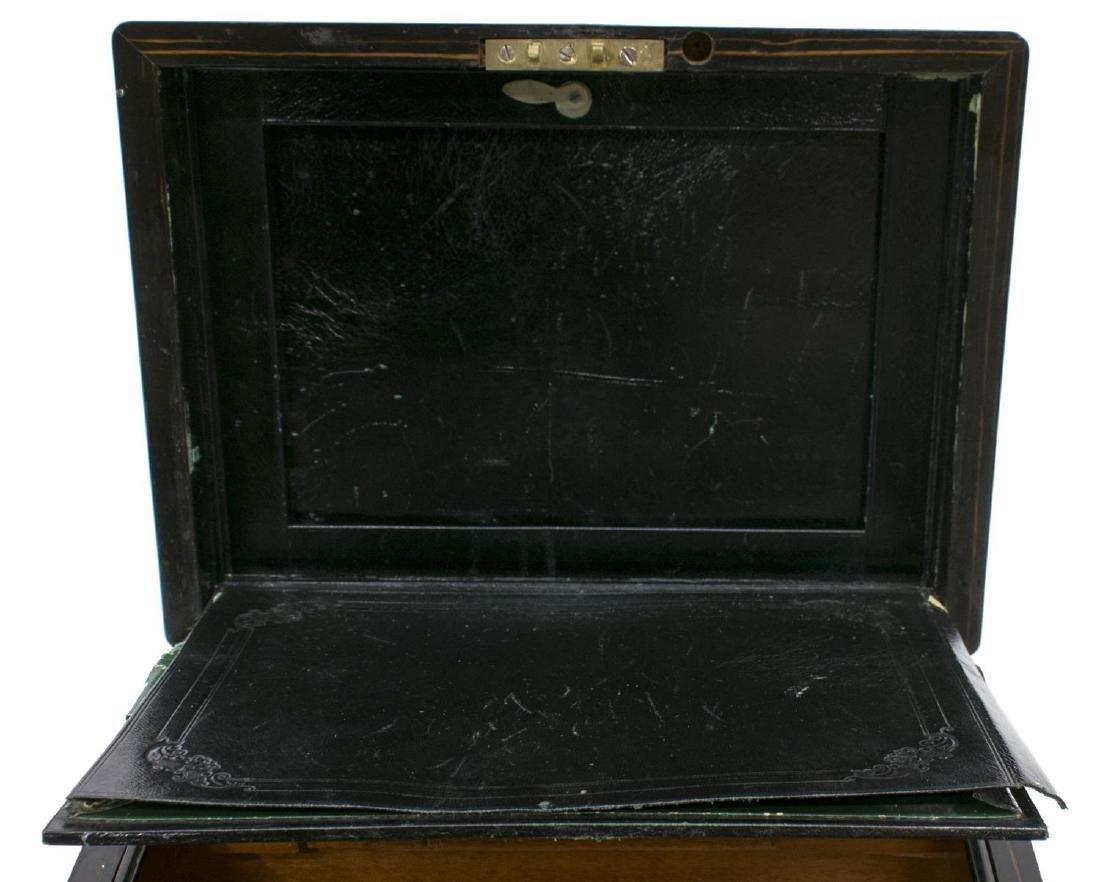 LATE VICTORIAN ENGLISH ROSEWOOD WORK BOX - 5