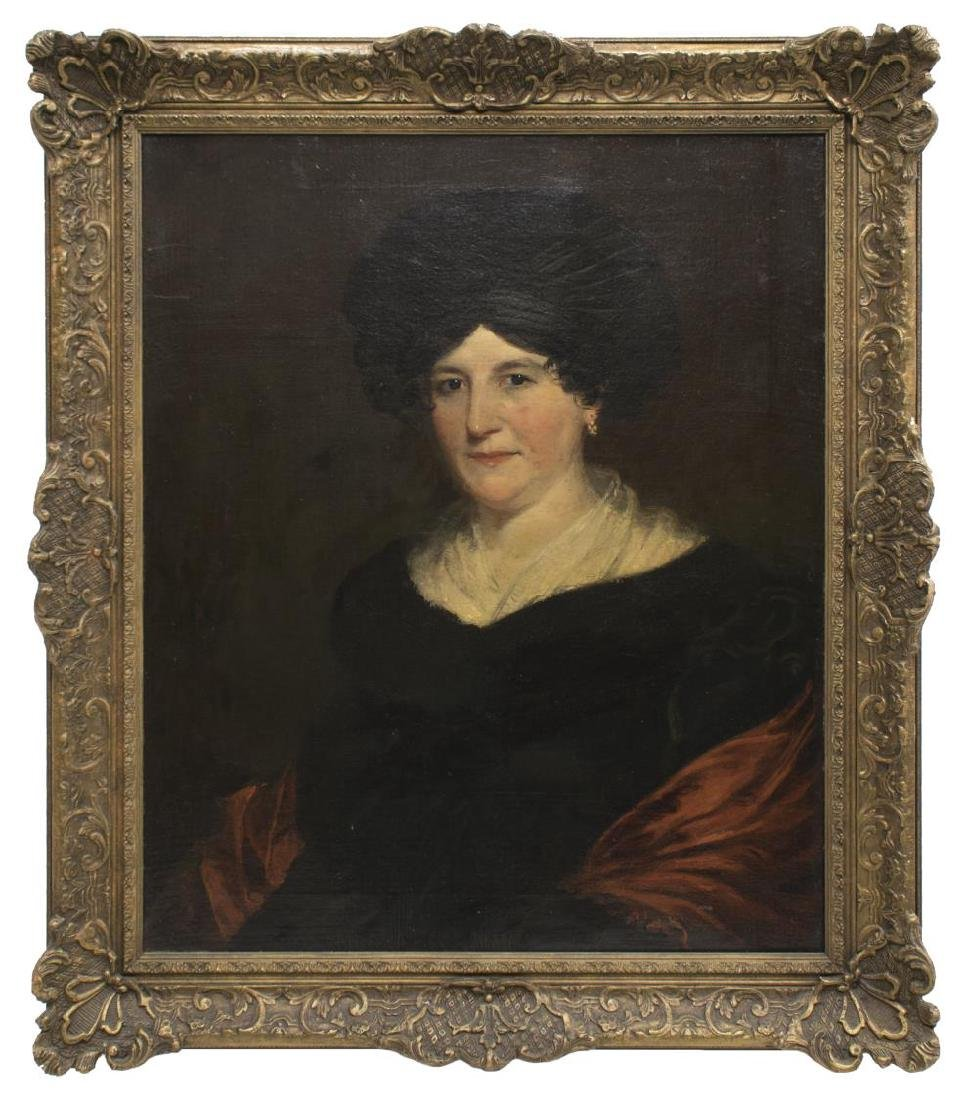 FRAMED OIL PAINTING PORTRAIT OF A WOMAN, 19TH C. - 2