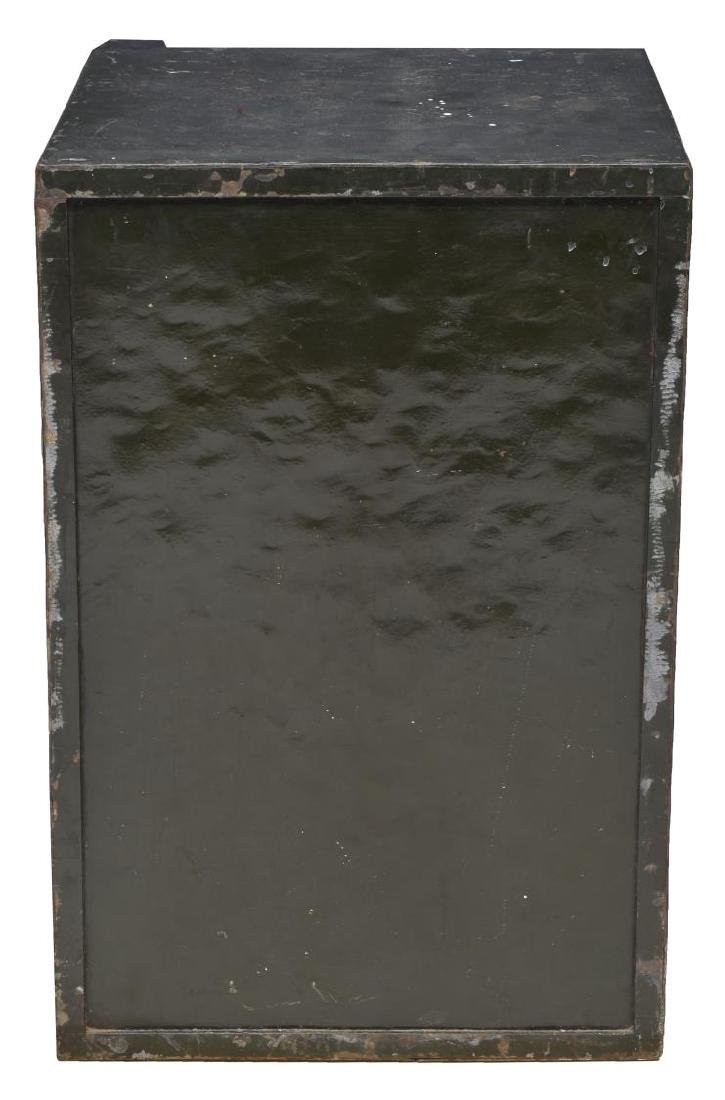 ENGLISH T WITHERS & SON PAINTED IRON KEY LOCK SAFE - 4