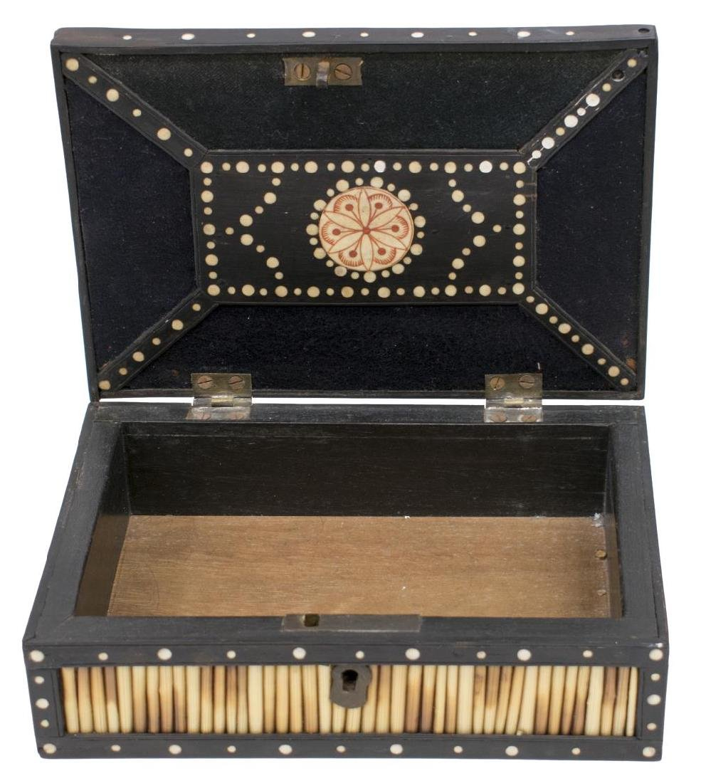 (3) ANGLO-INDIAN INLAID PORCUPINE QUILL BOXES - 2