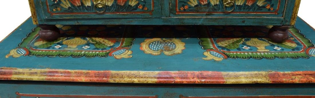 EASTERN EUROPEAN PAINTED CABINET ON CHEST - 3