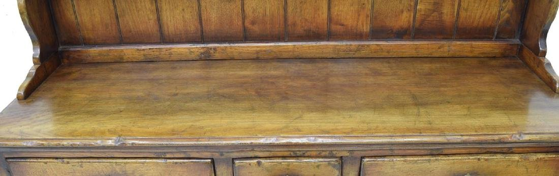 CARVED OAK WELSH CUPBOARD / SIDEBOARD - 3