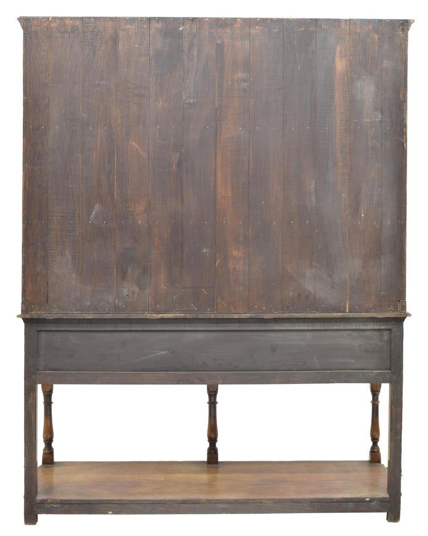 CARVED OAK WELSH CUPBOARD / SIDEBOARD - 4