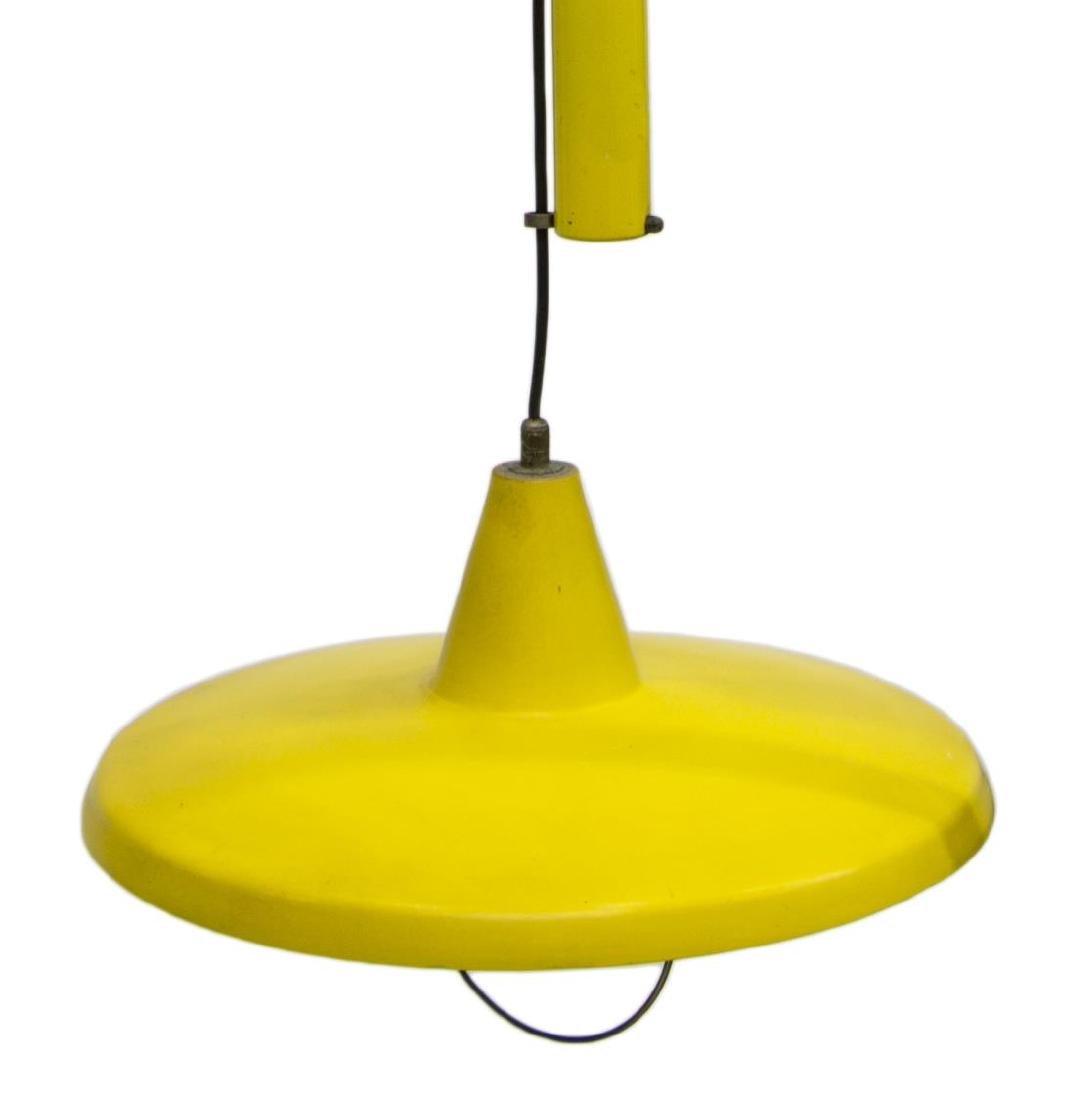 ITALIAN MODERN ENAMELED 1LT CEILING LAMP