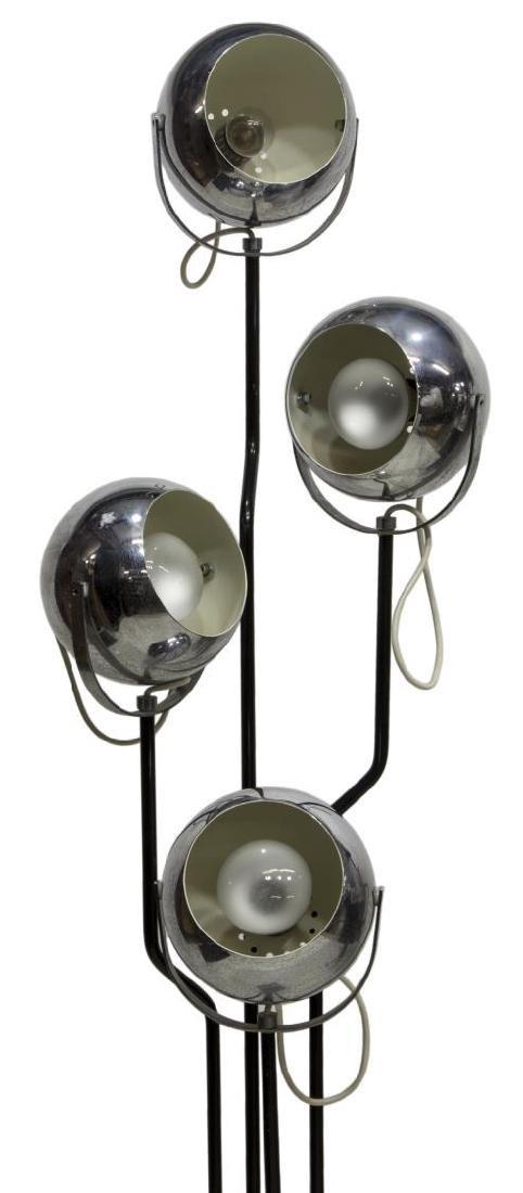 ITALIAN MODERN CHROME FOUR LT STANDING FLOOR LAMP