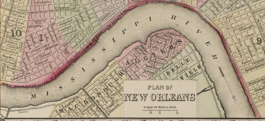 "MAPS, MITCHELL ""PLAN OF NEW ORLEANS"", ARKANSAS - 3"