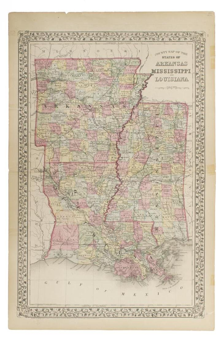 "MAPS, MITCHELL ""PLAN OF NEW ORLEANS"", ARKANSAS - 6"