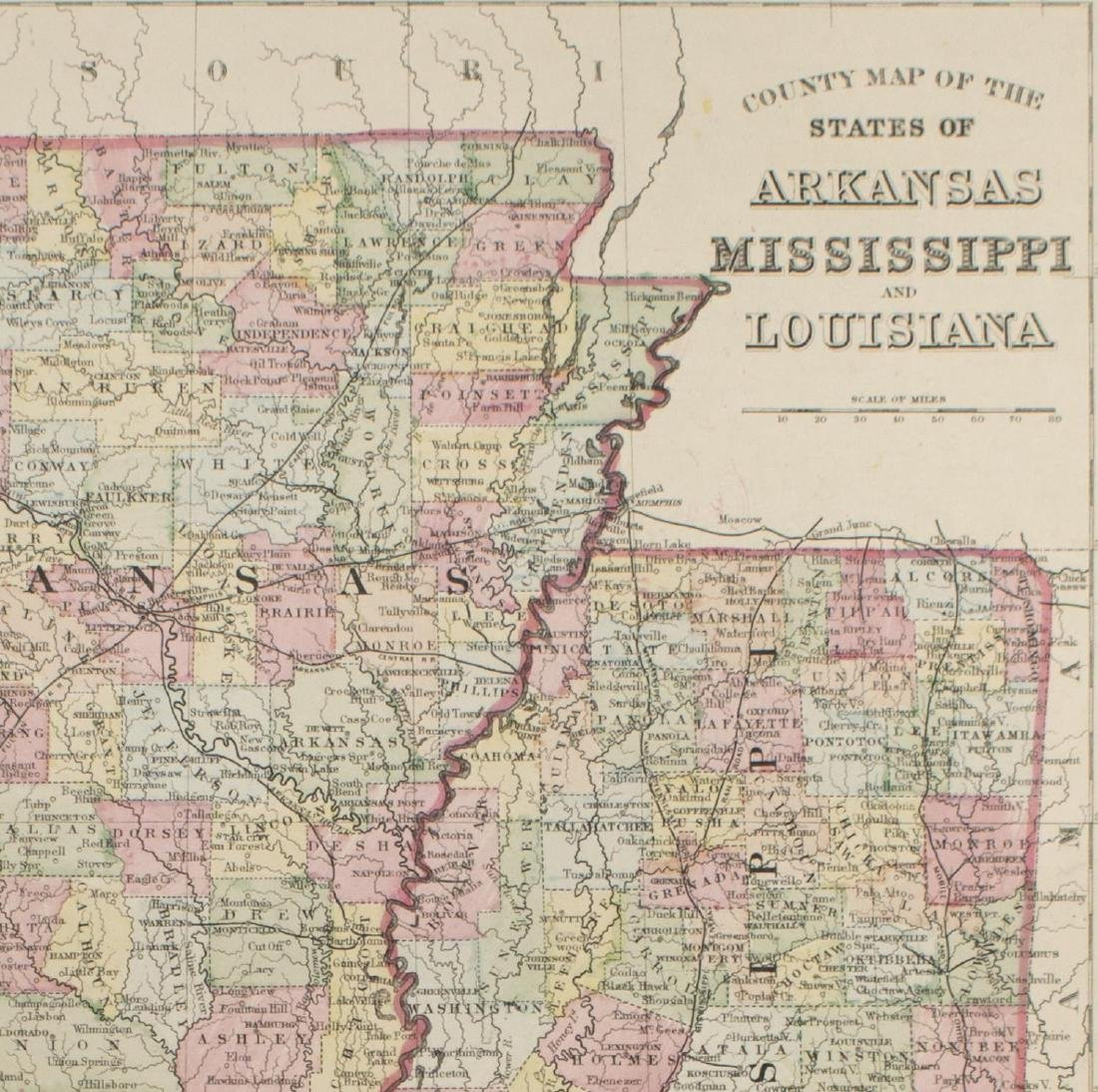 "MAPS, MITCHELL ""PLAN OF NEW ORLEANS"", ARKANSAS - 7"