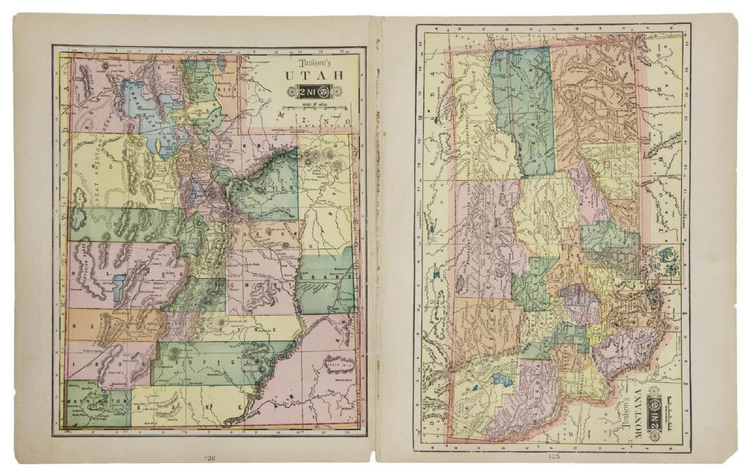 TUNISON'S MAP OF CALIFORNIA, NEVADA, OREGON - 4