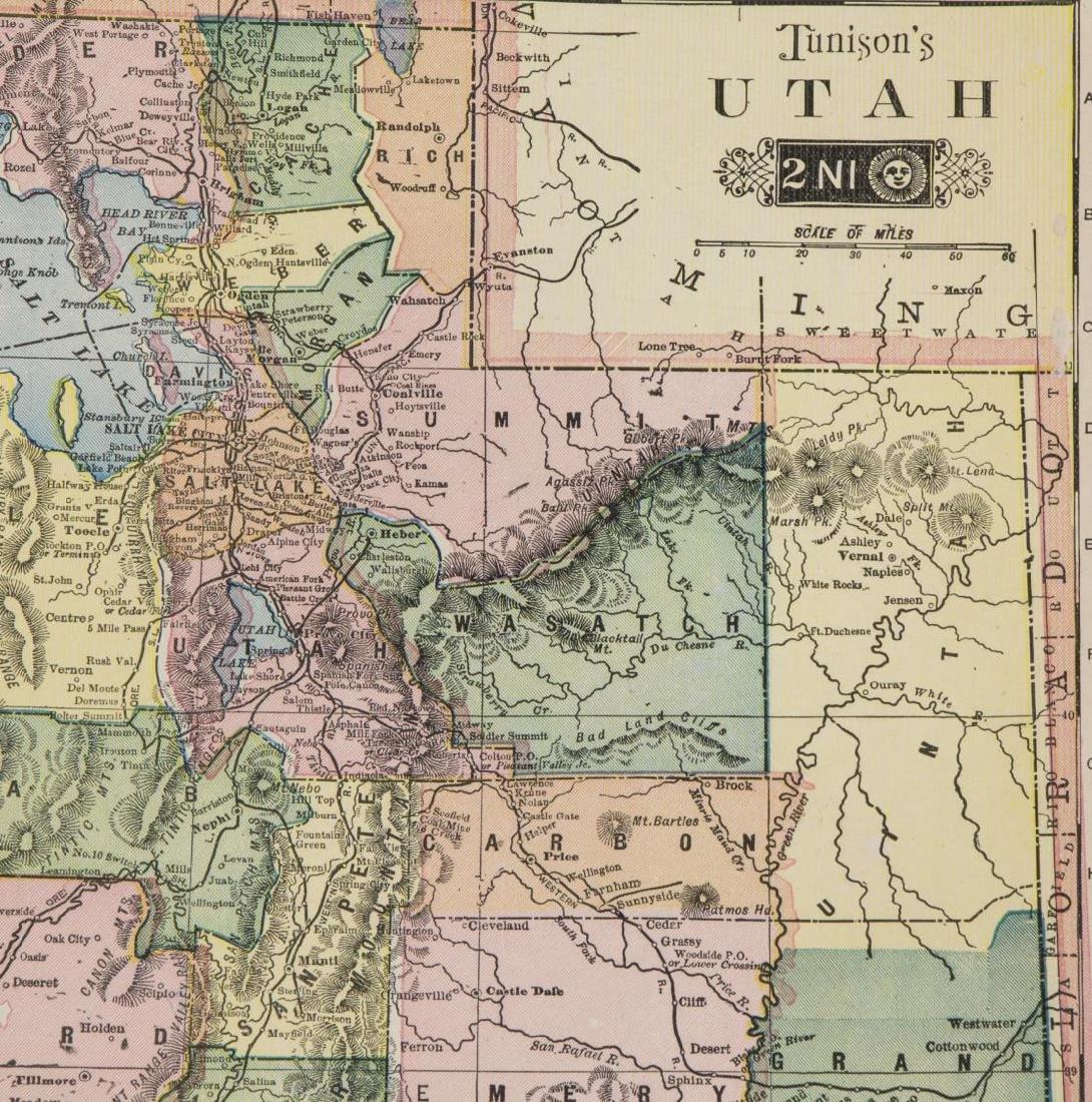 TUNISON'S MAP OF CALIFORNIA, NEVADA, OREGON - 5