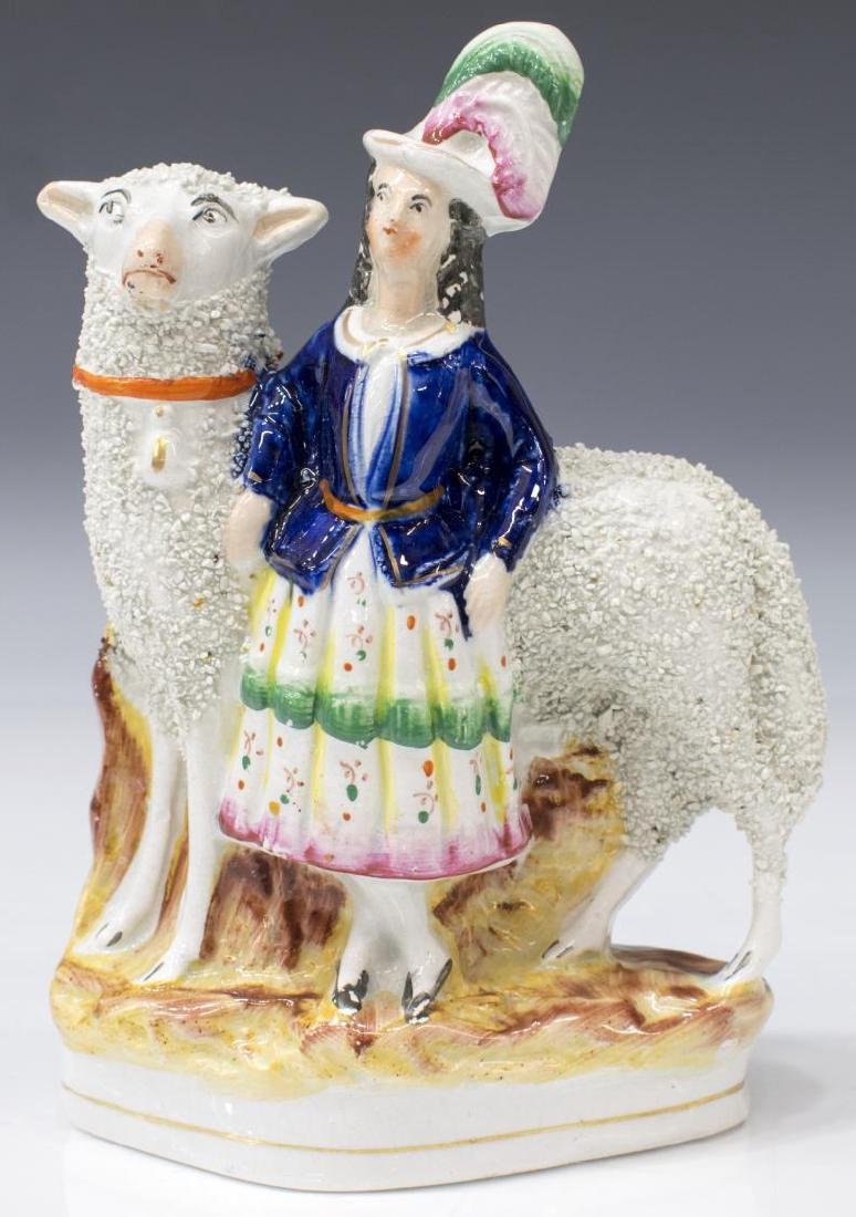 (2) STAFFORDSHIRE FIGURES, SCOTTISH COUPLE & SHEEP - 3