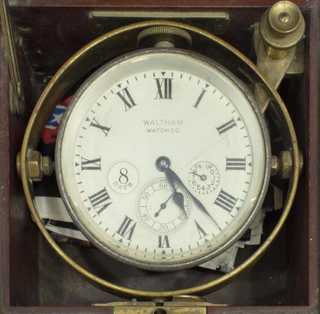WALTHAM U.S. NAVY MARINE CHRONOMETER, OPERATING