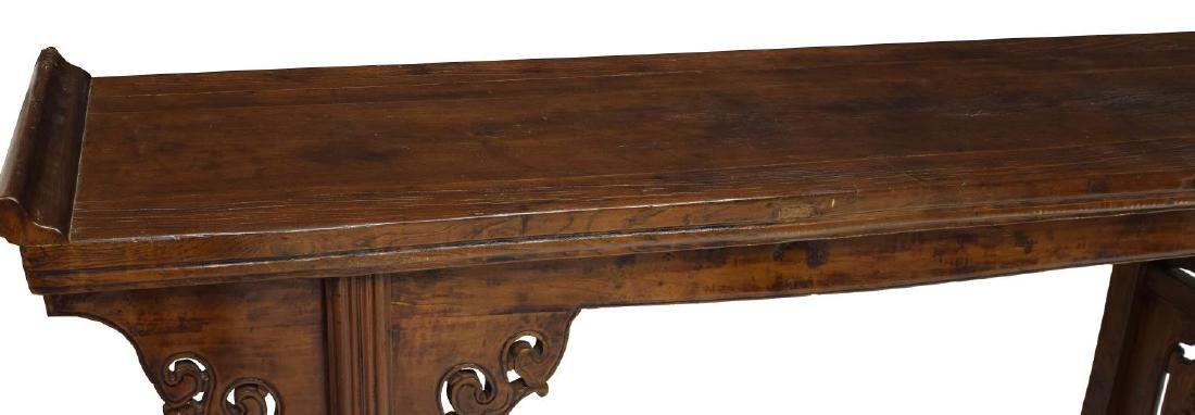 CHINESE CARVED ELMWOOD ALTAR TABLE - 3