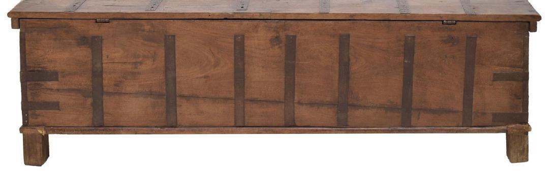 LARGE TEAKWOOD IRON BOUND TRUNK / COFFEE TABLE - 3