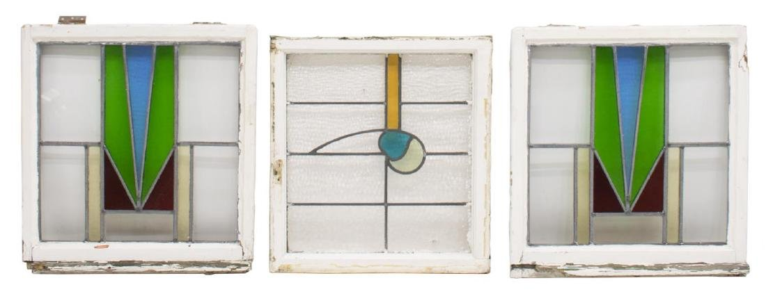 (5) ENGLISH STAINED LEADED GLASS WINDOWS - 2