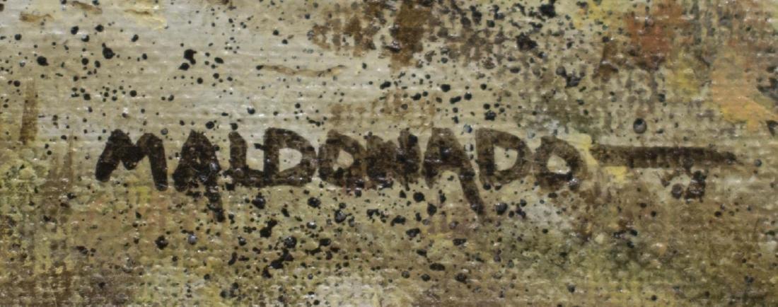 DANIEL MALDONADO (TX) FRAMED OIL PAINTING, TURKEY - 3