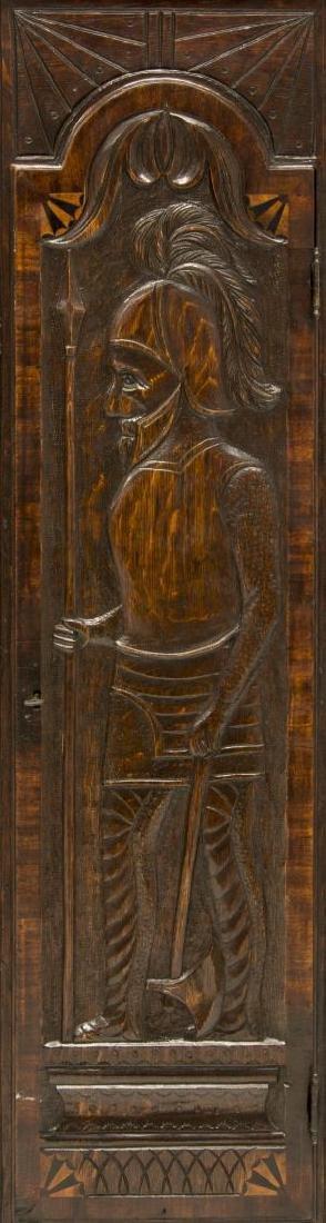 GEORGIAN CARVED OAK GRANDFATHER CLOCK, C. 1780 - 3
