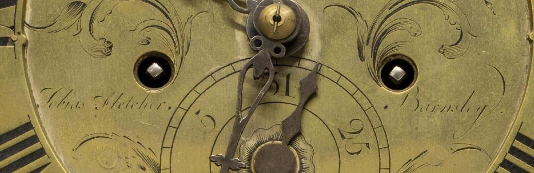 GEORGIAN CARVED OAK GRANDFATHER CLOCK, C. 1780 - 4