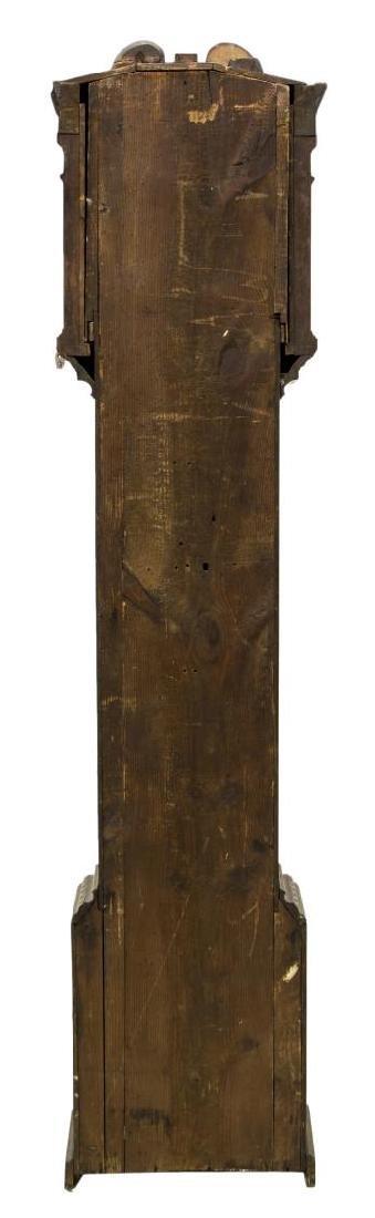 GEORGIAN CARVED OAK GRANDFATHER CLOCK, C. 1780 - 6