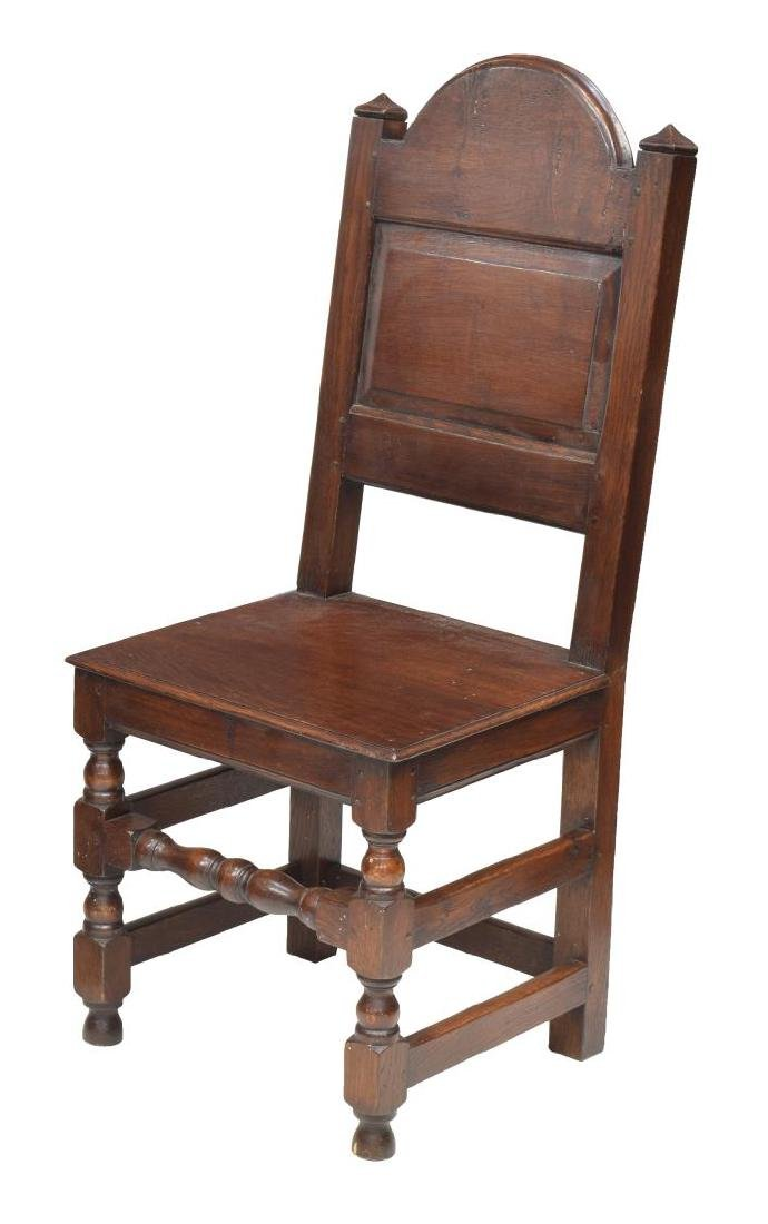 (8) ENGLISH 17TH C STYLE OAK DINING CHAIRS - 2