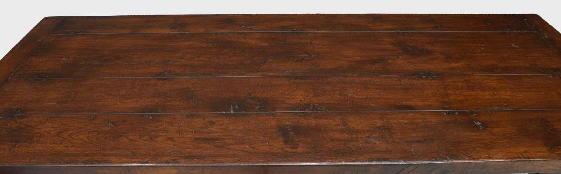 ENGLISH PLANK TOP REFECTORY TABLE STRETCHER BASE - 3