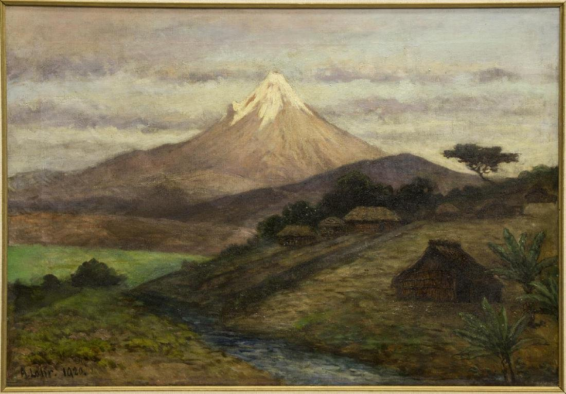 AUGUST LOHR (1842-1920) OIL PAINTING OF MEXICO