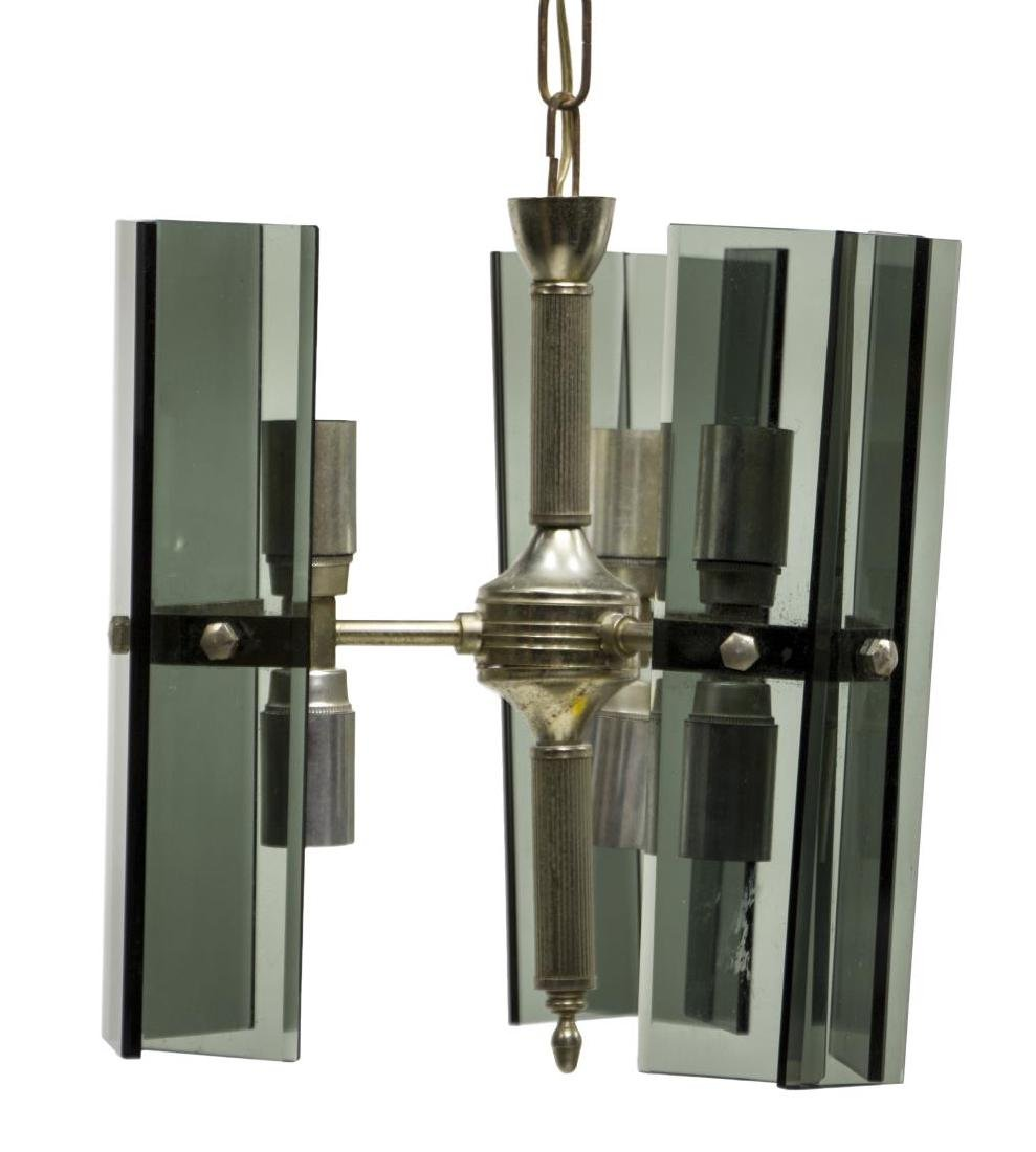 ITALIAN MID-CENTURY MODERN 6LT GLASS CHANDELIER