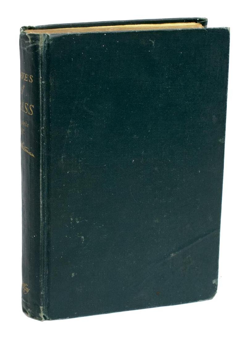 SCARCE WHITMAN, LEAVES OF GRASS, 1892 DEATHBED ED.