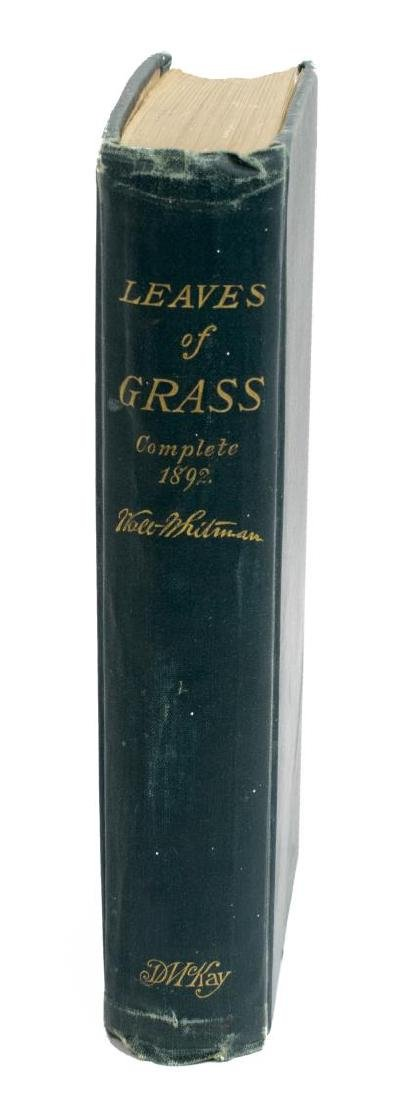 SCARCE WHITMAN, LEAVES OF GRASS, 1892 DEATHBED ED. - 2
