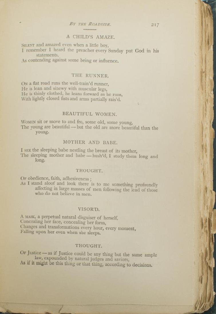 SCARCE WHITMAN, LEAVES OF GRASS, 1892 DEATHBED ED. - 4