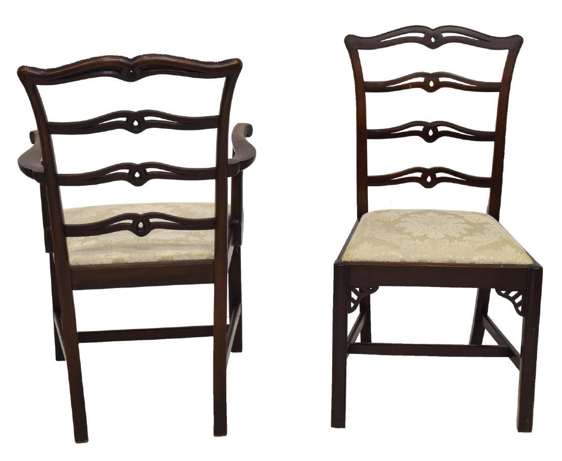 (6) CARVED MAHOGANY RIBBON BACK ARM & SIDE CHAIRS - 3