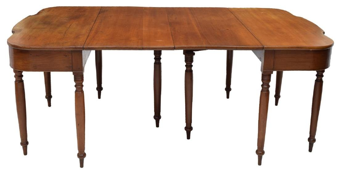 (2) DROP LEAF CHERRYWOOD EXTENSION DINING TABLE - 3