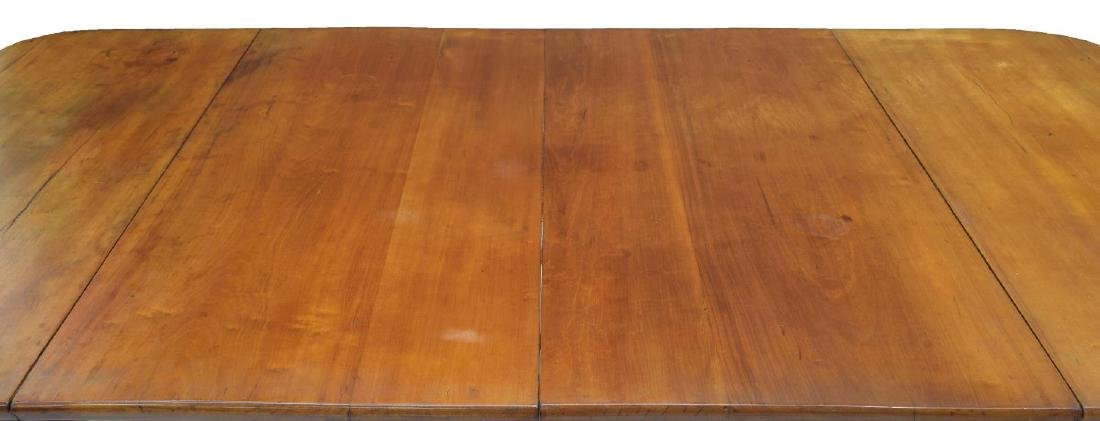 (2) DROP LEAF CHERRYWOOD EXTENSION DINING TABLE - 6
