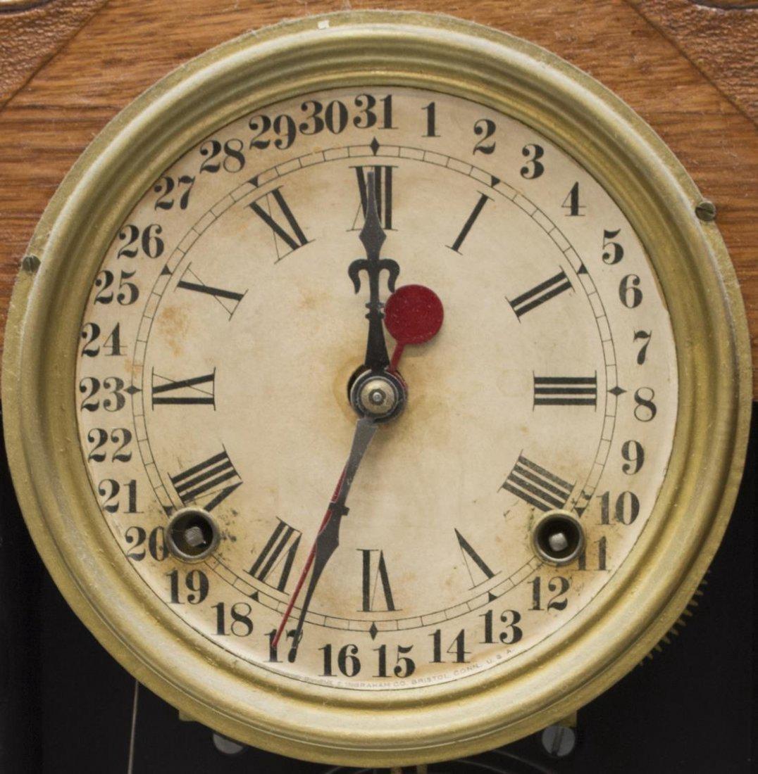 (2) AMERICAN GINGERBREAD OAK KITCHEN CLOCKS - 4