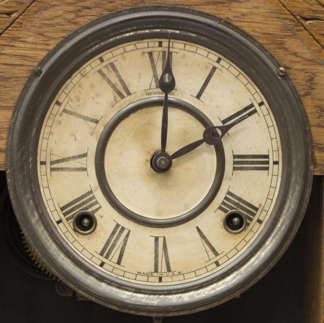 (2) AMERICAN GINGERBREAD OAK KITCHEN CLOCKS - 8