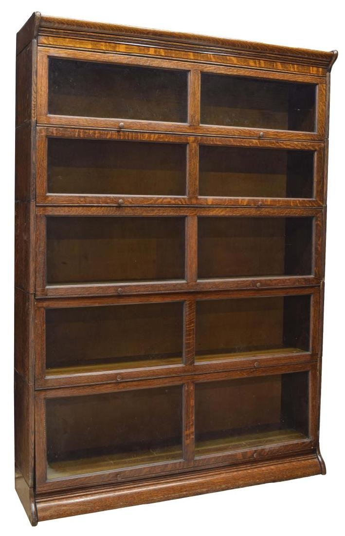 LAWYER'S DOUBLE WIDE STACKING BOOKCASE
