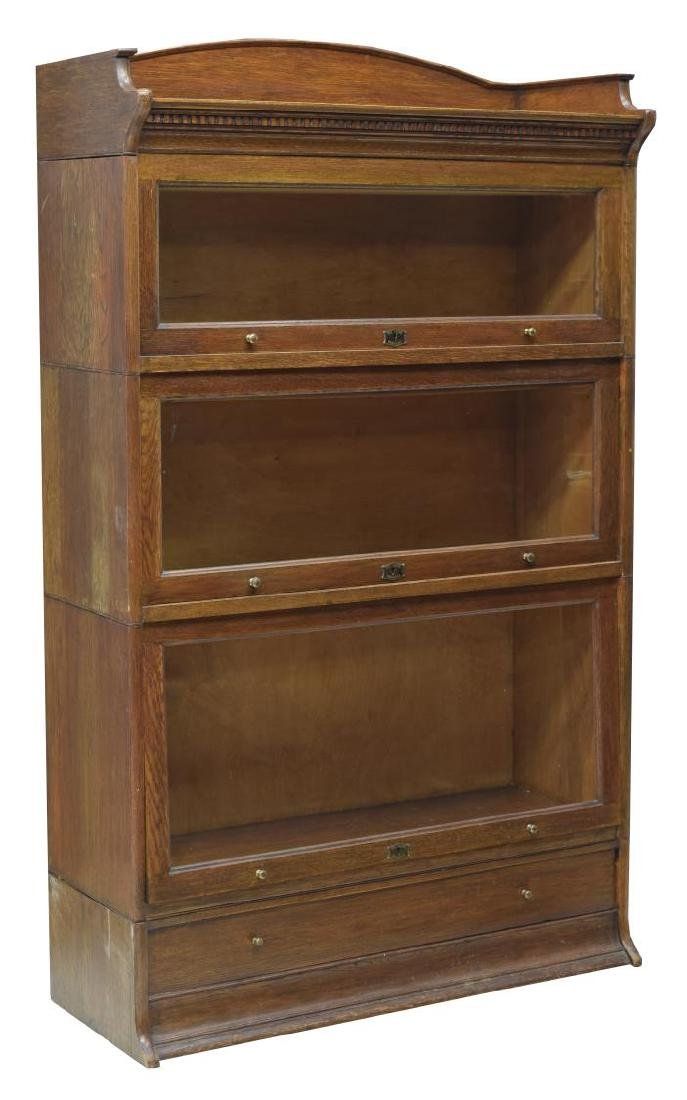ENGLISH OAK STACKING BARRISTERS BOOKCASE