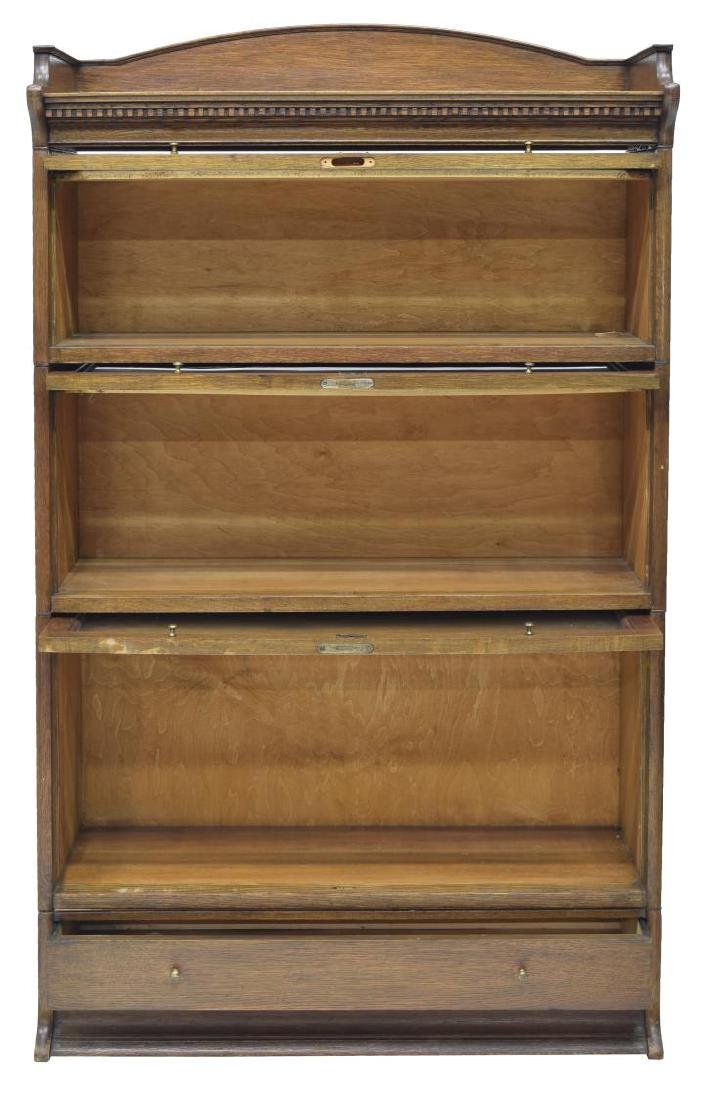ENGLISH OAK STACKING BARRISTERS BOOKCASE - 2