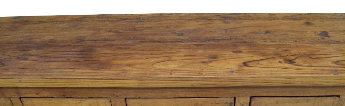 TEAKWOOD EIGHT DRAWER PANELED SIDEBOARD / CABINET - 3