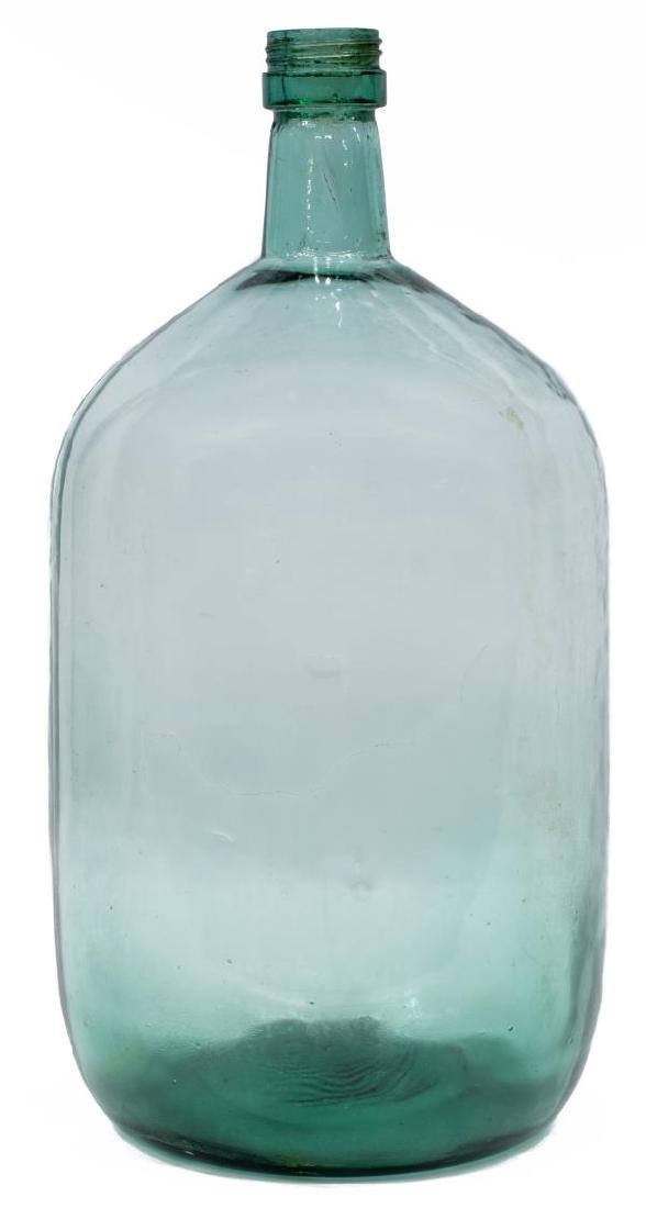 LARGE CONTINENTAL GREEN GLASS WINE BOTTLE