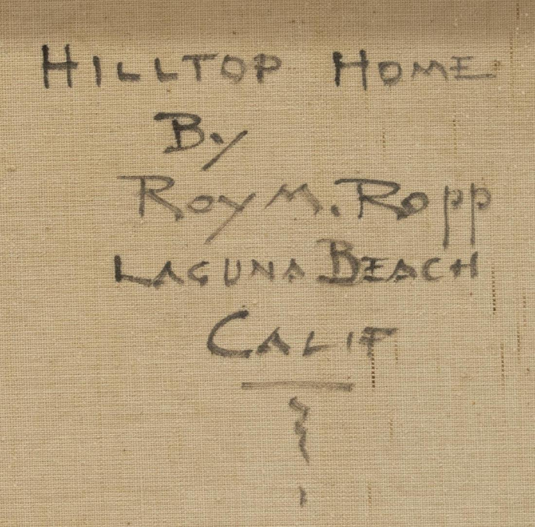 ROY ROPP (CALIFORNIA, D.1974) FRAMED OIL PAINTING - 4