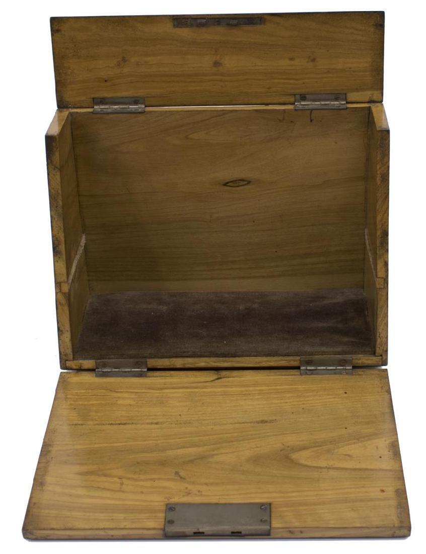 DIMINUTIVE ENGLISH WALNUT TRAVELING BOX - 3
