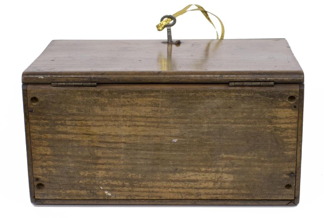 DIMINUTIVE ENGLISH WALNUT TRAVELING BOX - 4