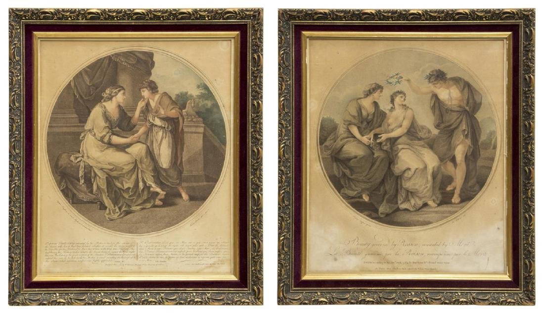 2 ANGELIKA KAUFFMANN(1741-1807) 18th C. MEZZOTINTS