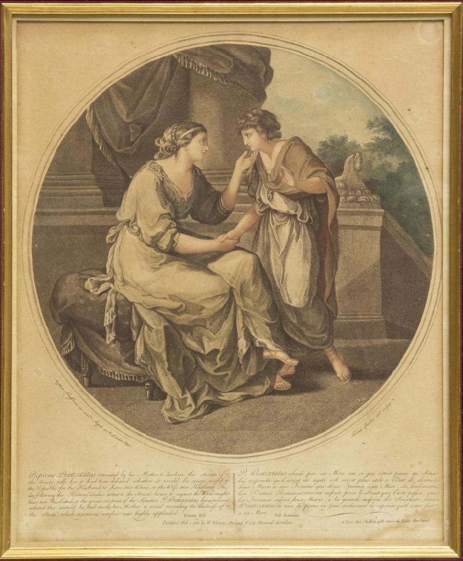 2 ANGELIKA KAUFFMANN(1741-1807) 18th C. MEZZOTINTS - 2