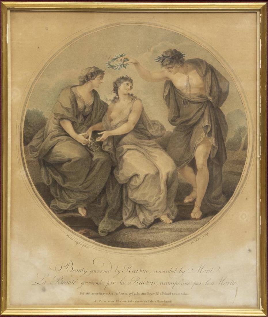 2 ANGELIKA KAUFFMANN(1741-1807) 18th C. MEZZOTINTS - 3
