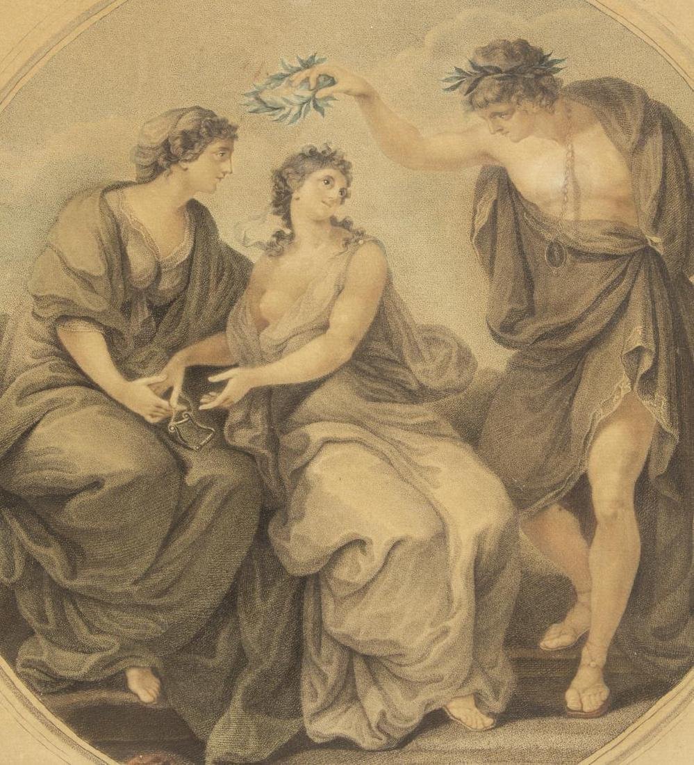 2 ANGELIKA KAUFFMANN(1741-1807) 18th C. MEZZOTINTS - 4
