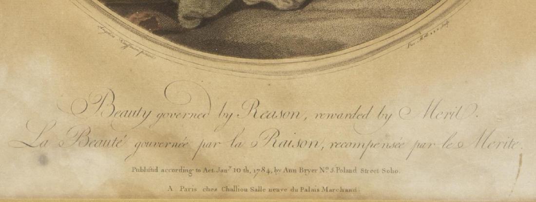 2 ANGELIKA KAUFFMANN(1741-1807) 18th C. MEZZOTINTS - 6