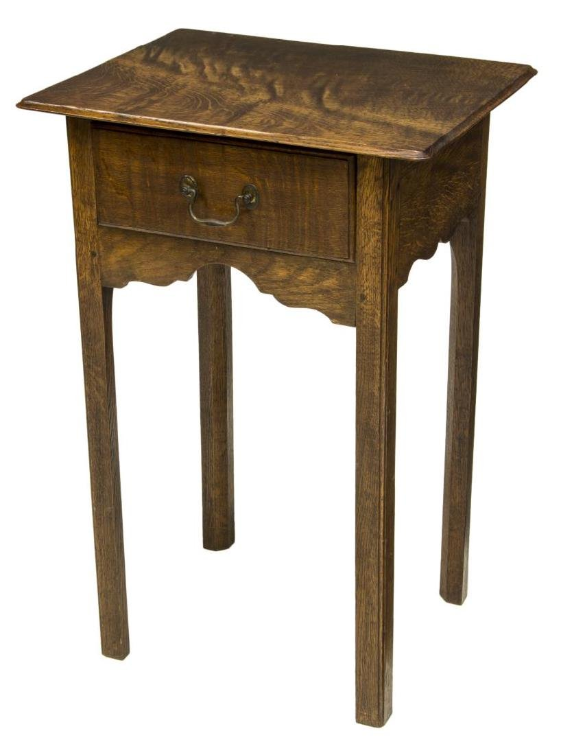 ENGLISH OAK SIDE TABLE, C. 1960